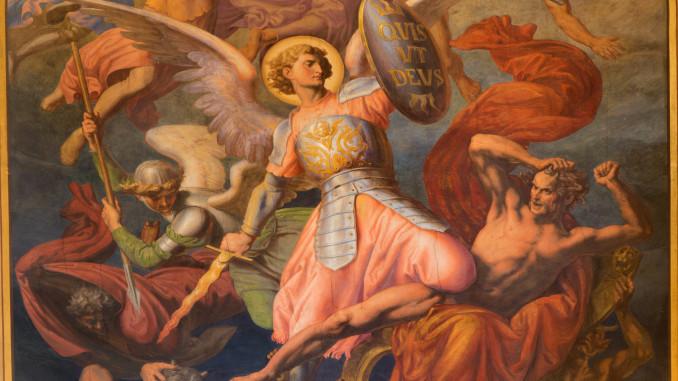 VIENNA - JULY 27:  Jesus Christ. Detail of fresco of Last judgment scene by Leopold Kupelwieser from 1860 in nave of Altlerchenfelder church on July 27, 2013 Vienna.