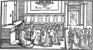 Imposition-des-Cendres-par-le-pontife-Pontifical-de-1561